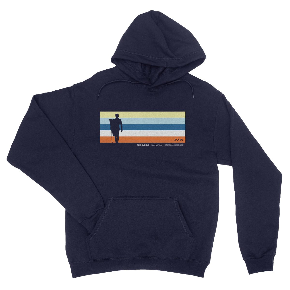 the bubble redondo hermosa manhattan beach hoodies in navy by kikicutt sweatshirt store