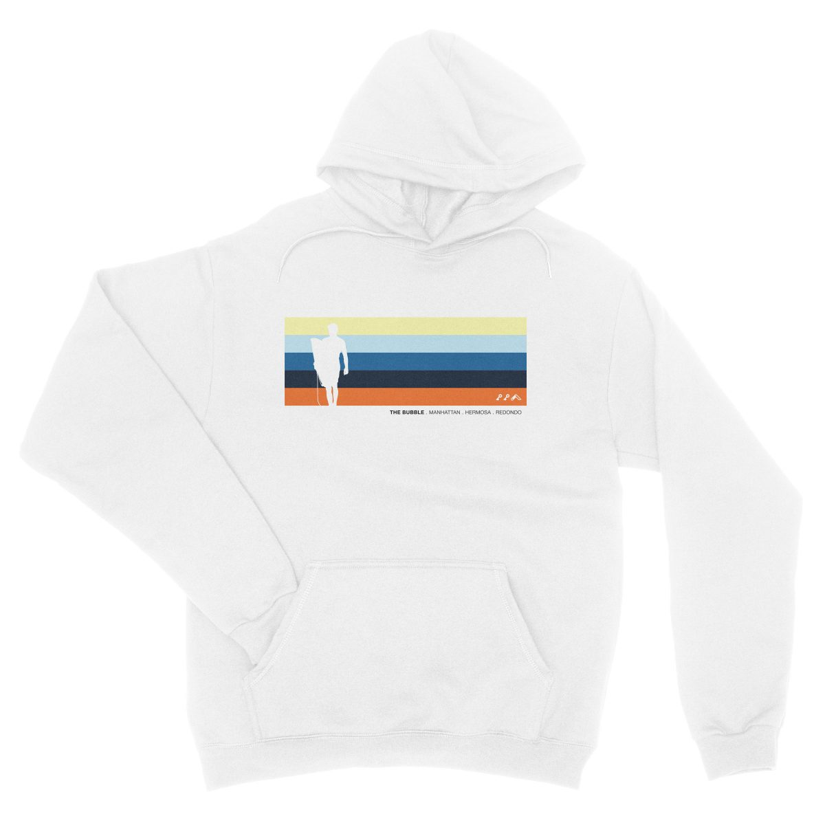 the bubble redondo hermosa manhattan beach hoodies in white by kikicutt sweatshirt store