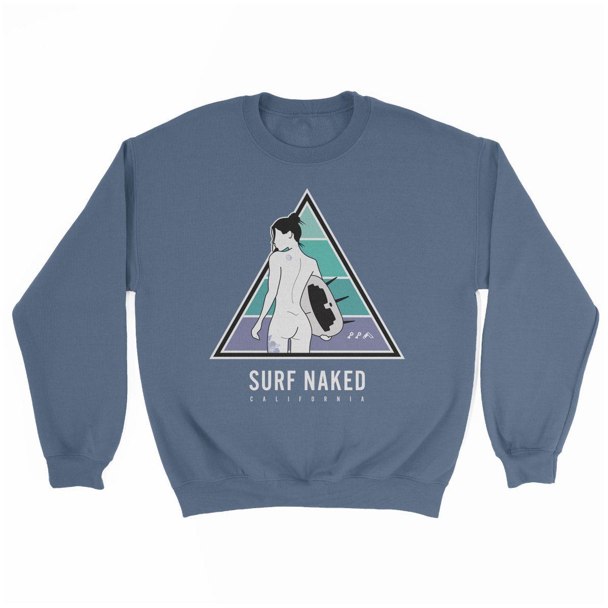 SURF NAKED CALIFORNIA beaches sweatshirt in indigo by kikicutt sweatshirt store