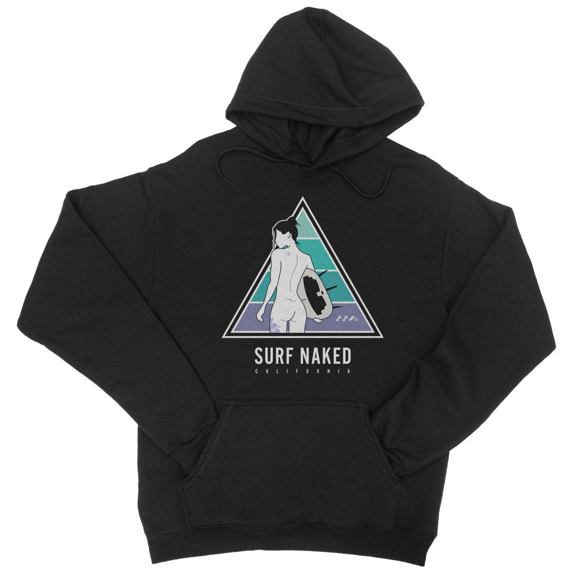 SURF NAKED CALIFORNIA beaches hoodie in black by kikicutt sweatshirt store
