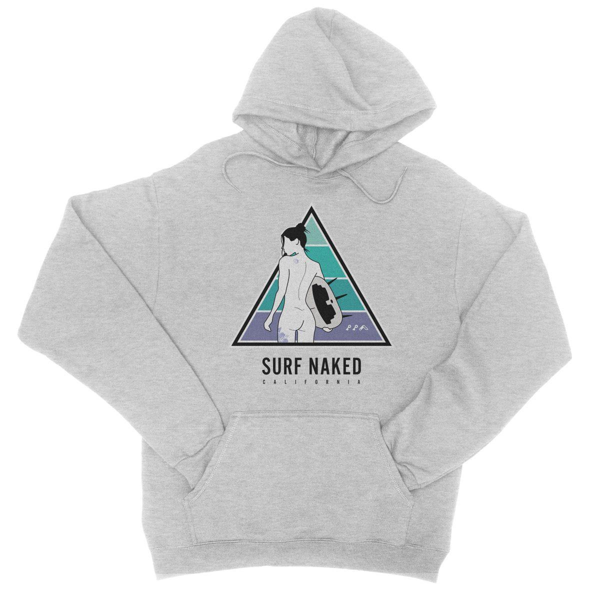 SURF NAKED CALIFORNIA beaches hoodie in grey by kikicutt sweatshirt store