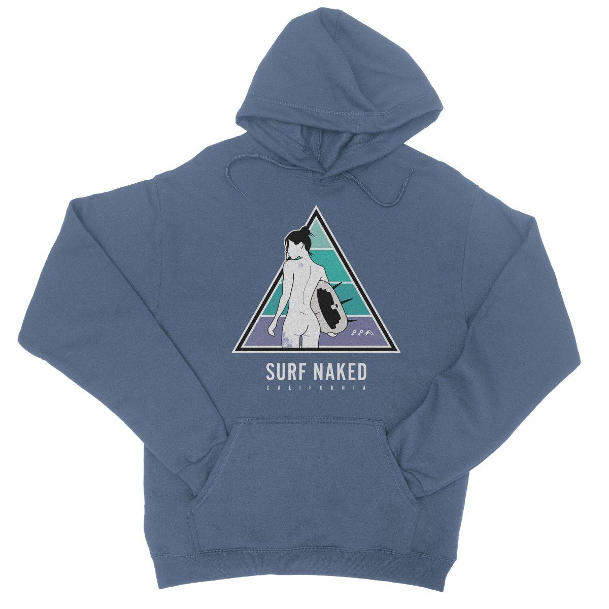 SURF NAKED CALIFORNIA beaches hoodie in indigo by kikicutt sweatshirt store