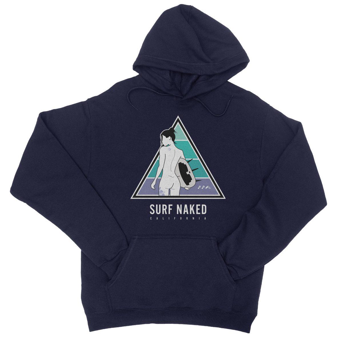 SURF NAKED CALIFORNIA beaches hoodie in navy by kikicutt sweatshirt store