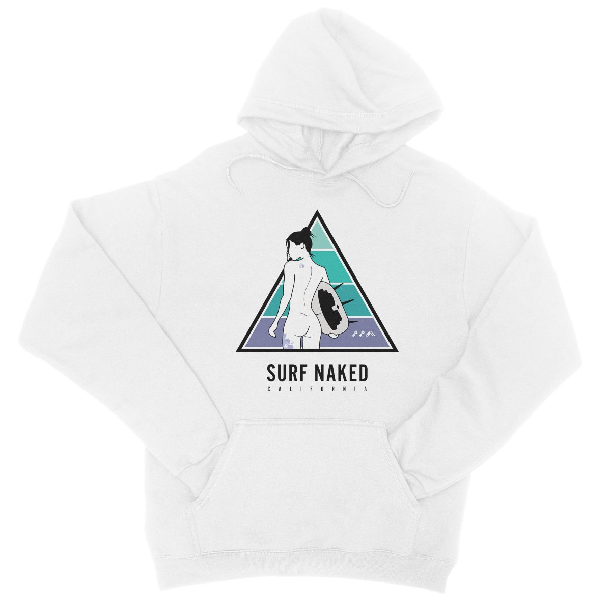 SURF NAKED CALIFORNIA beaches hoodie in white by kikicutt sweatshirt store
