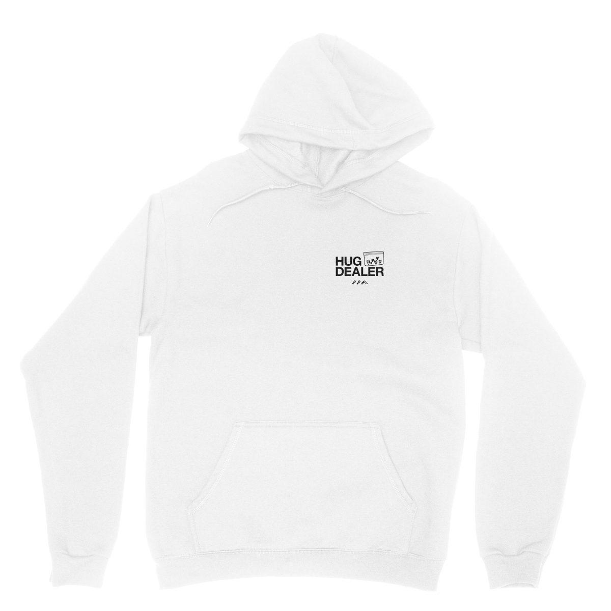 HUG DEALER hoodie in white by kikicutt sweatshirt store