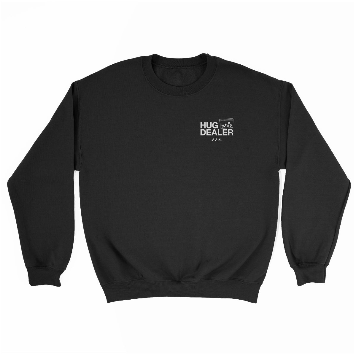 HUG DEALER sweatshirt in black by kikicutt sweatshirt store