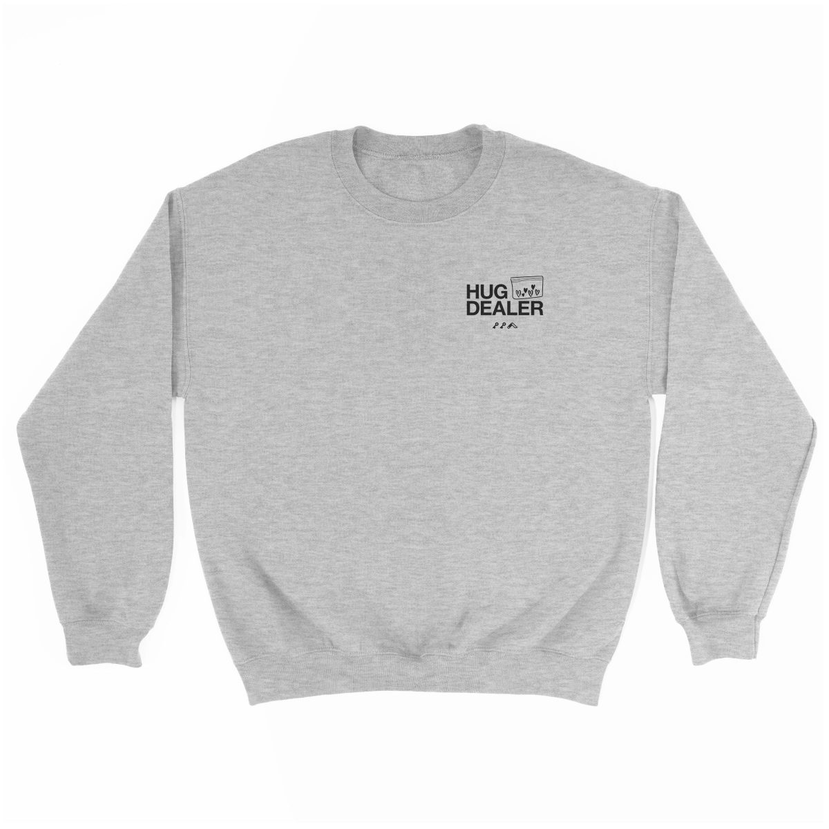 HUG DEALER sweatshirt in grey by kikicutt sweatshirt store