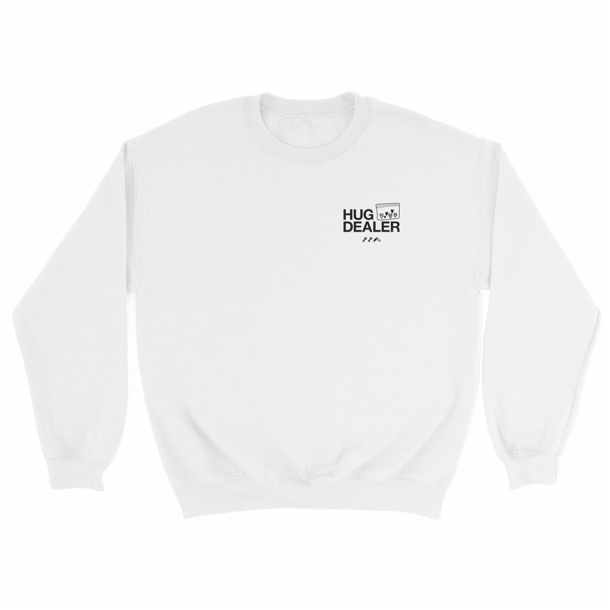 HUG DEALER sweatshirt in white by kikicutt sweatshirt store
