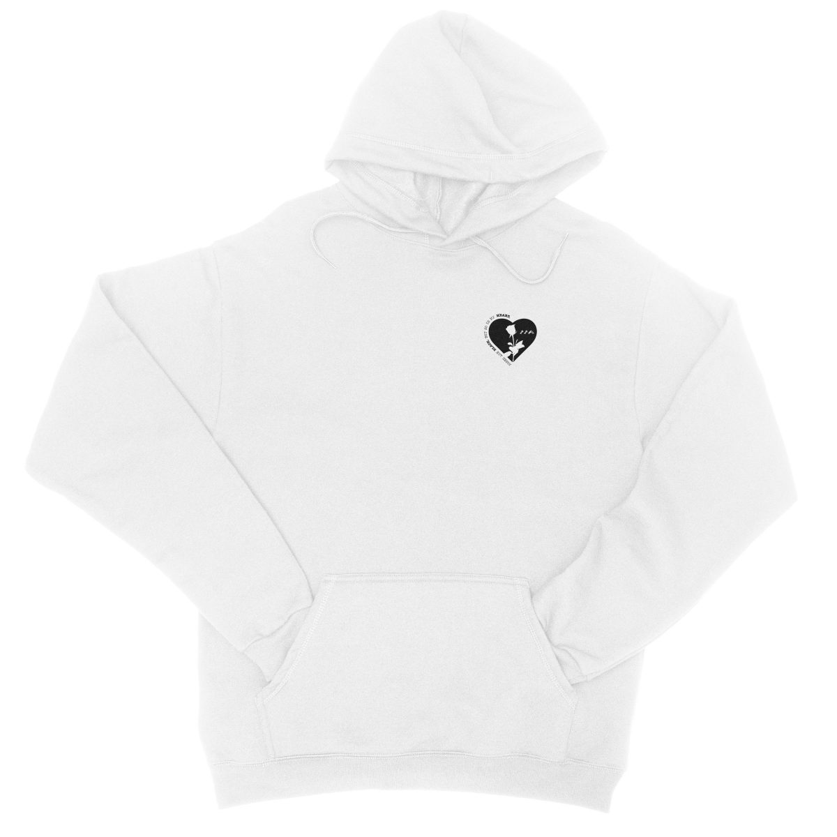 ROSES ARE BLACK BUT SO IS MY HEART hoodie in white by kikicutt