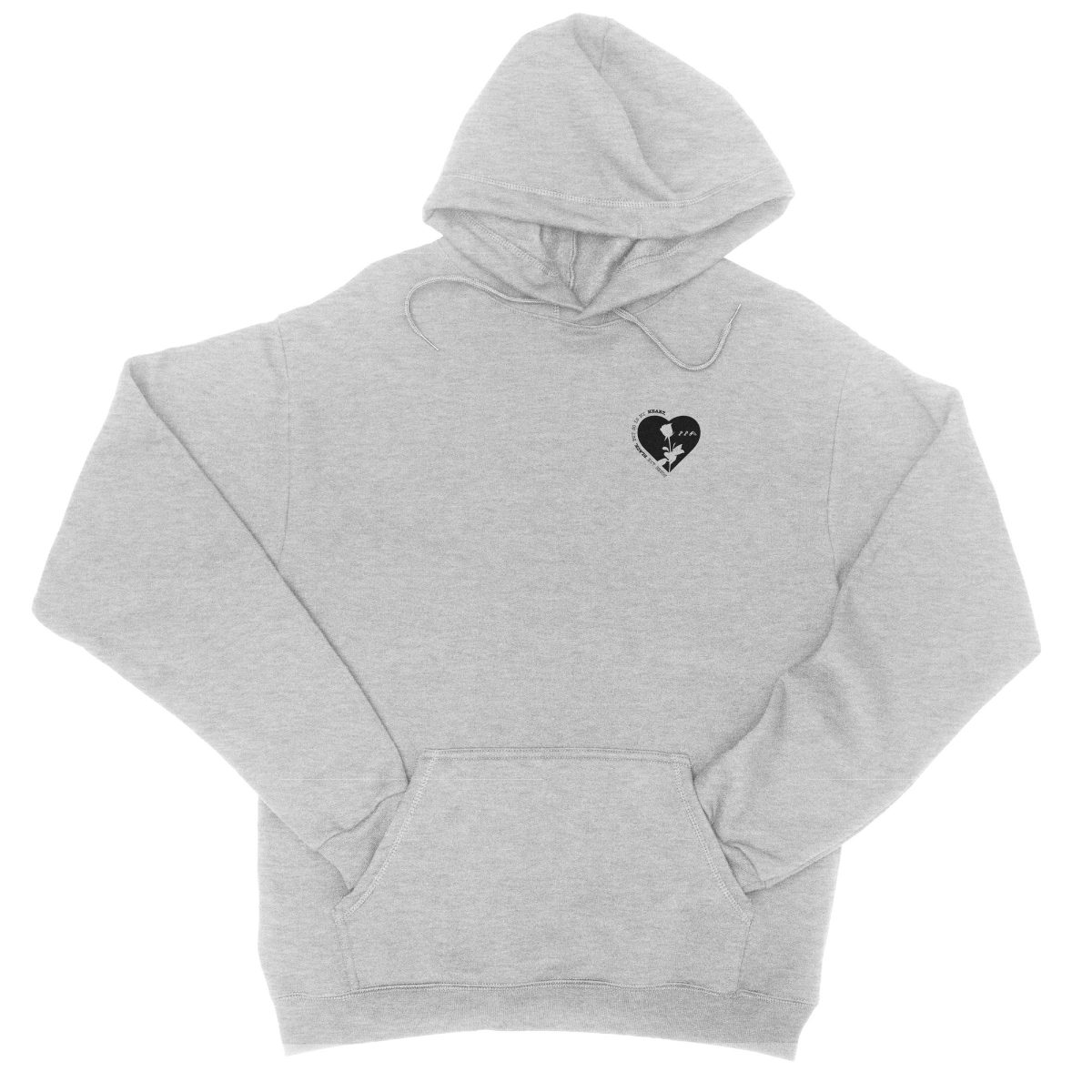 ROSES ARE BLACK BUT SO IS MY HEART hoodie in sport grey by kikicutt