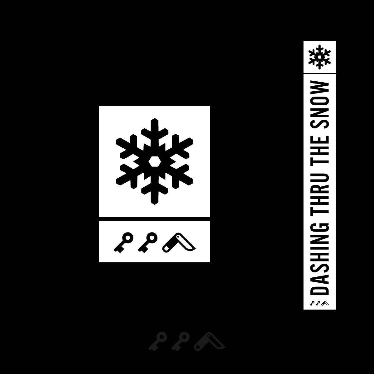 dashing thru the snow sweatshirt design