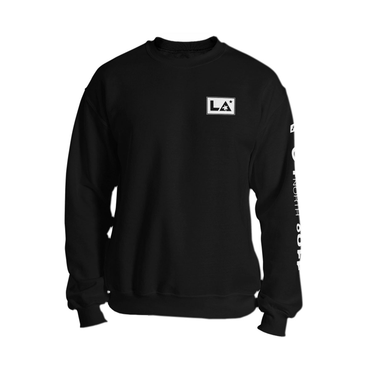 los angeles longitude and latitude sweatshirt