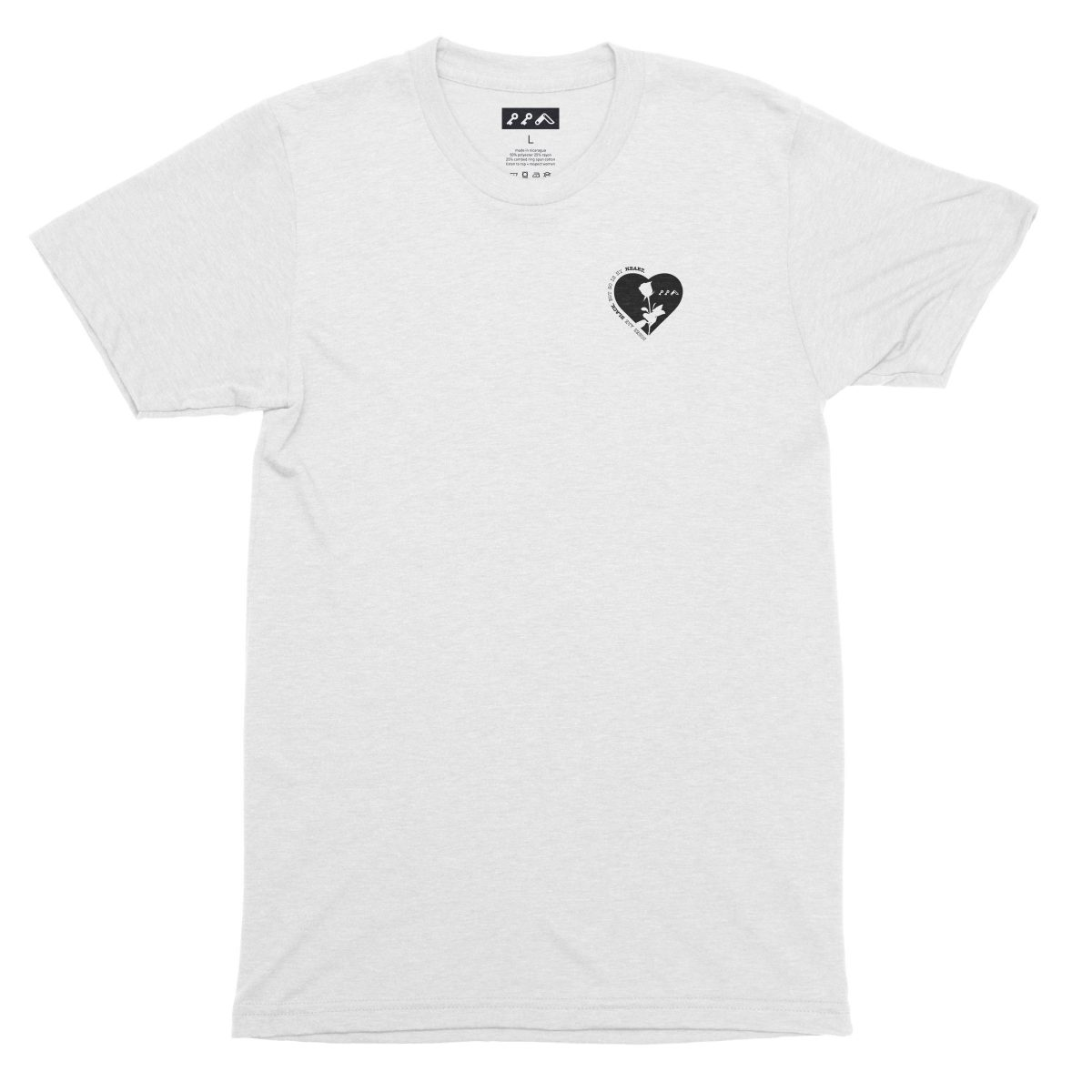 ROSES ARE BLACK BUT SO IS MY HEART shirt in white by kikicutt
