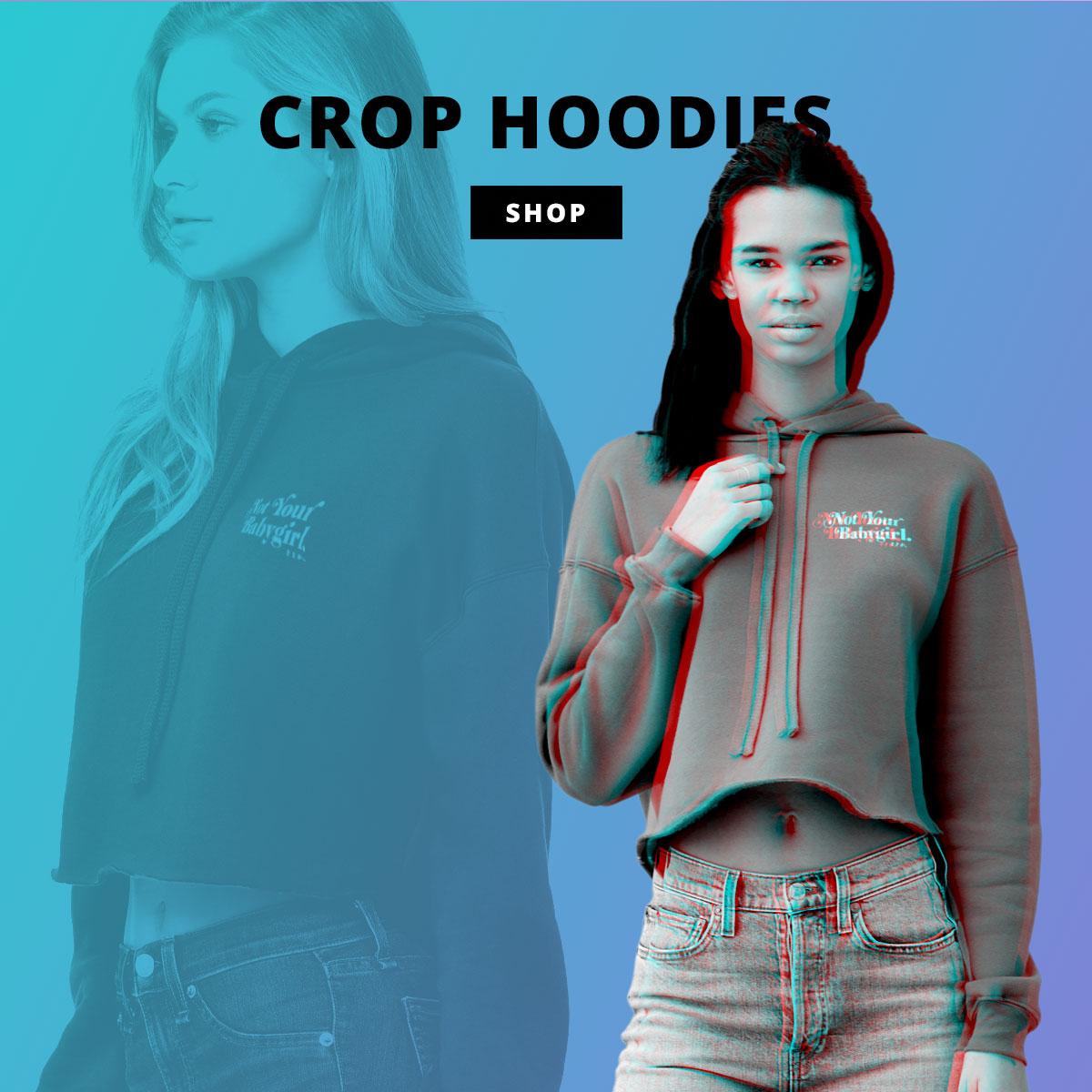 kikicutt crop hoodies