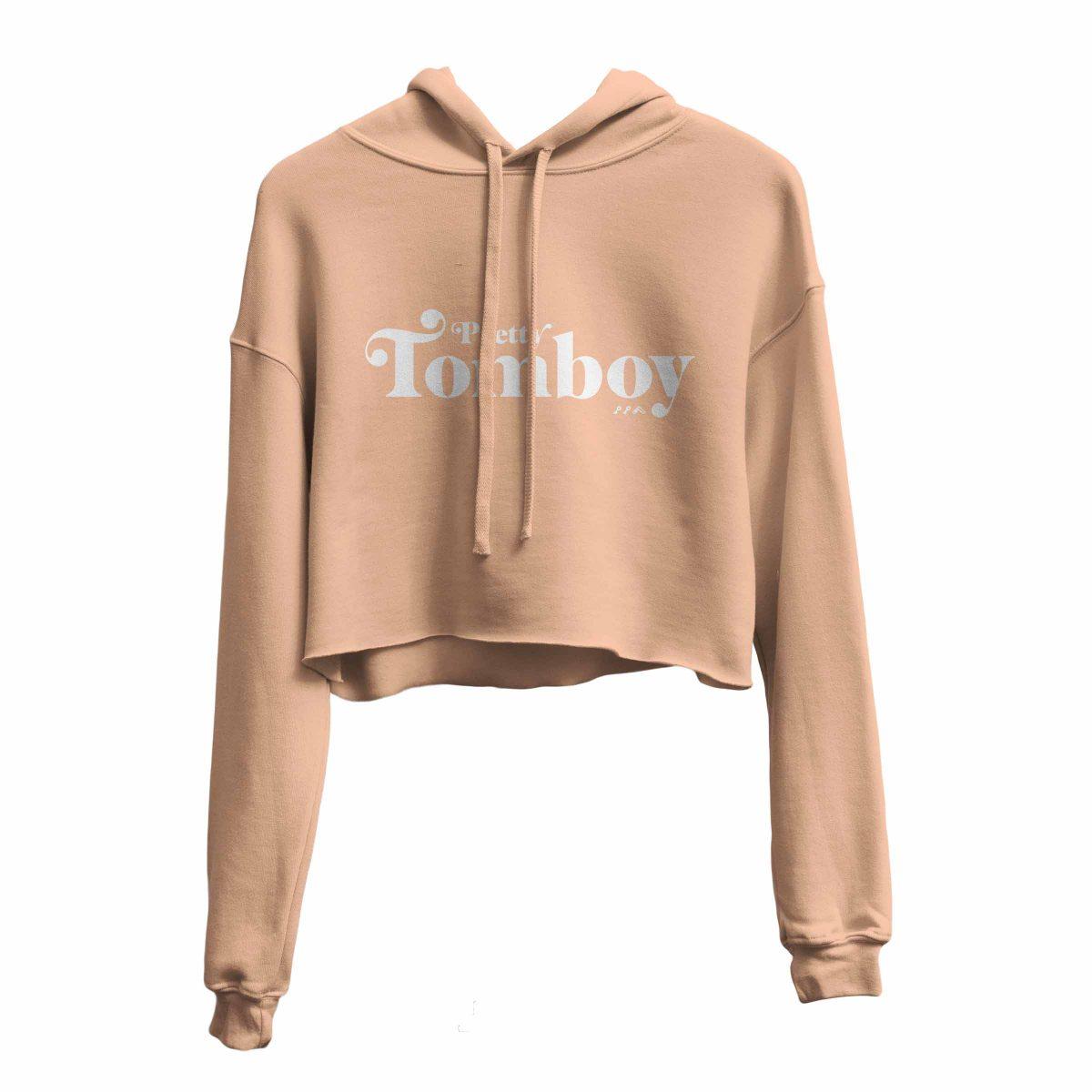 PRETTY TOMBOY crop hoodie by kikicutt