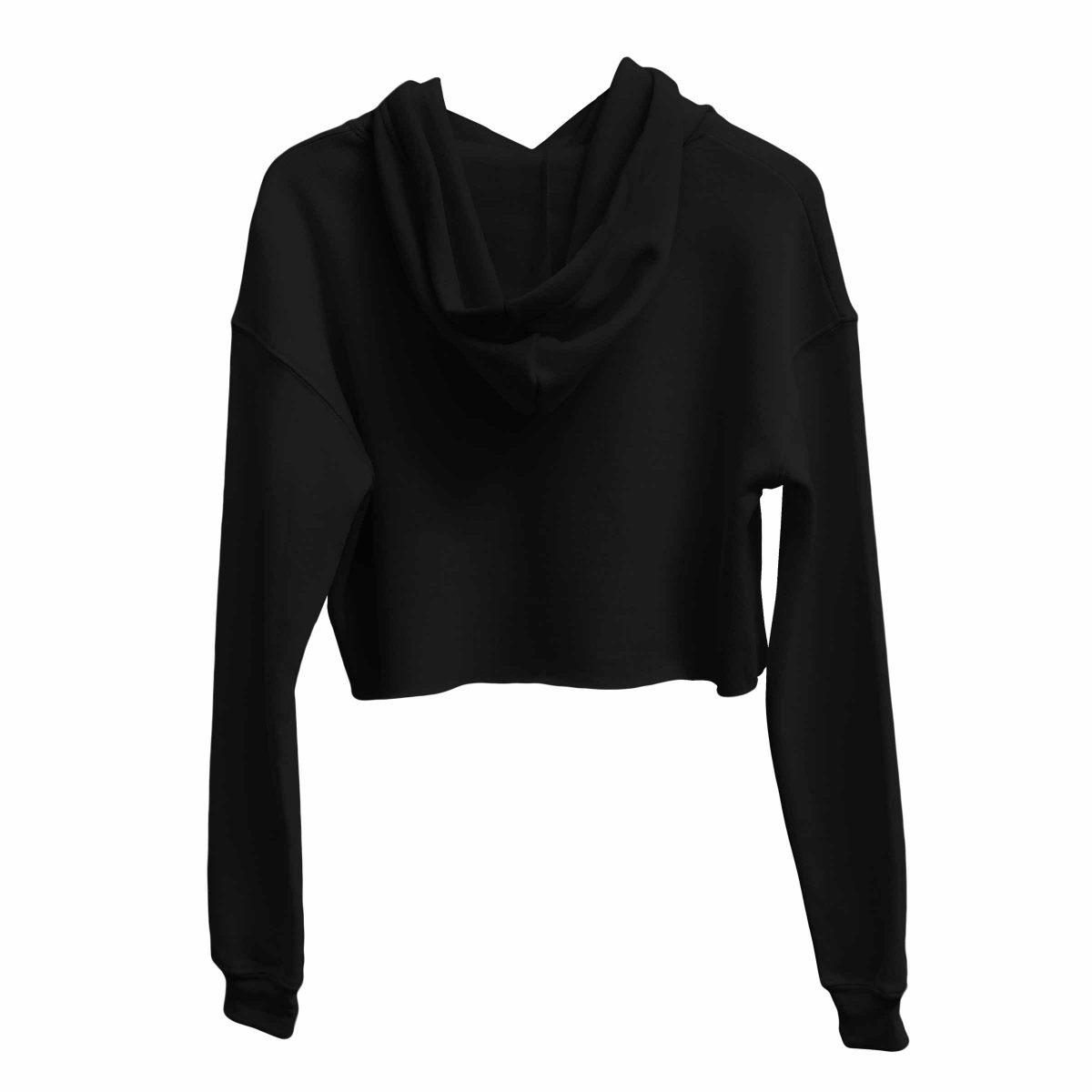 kikicutt icon black crop hoodie