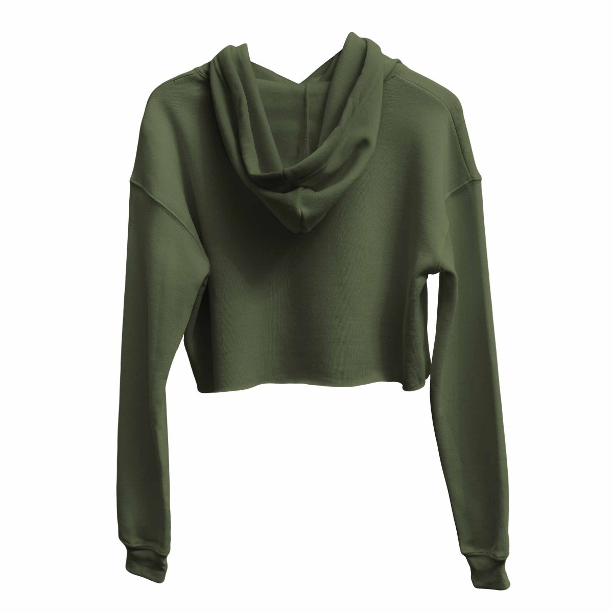 kikicutt icon military green crop hoodie