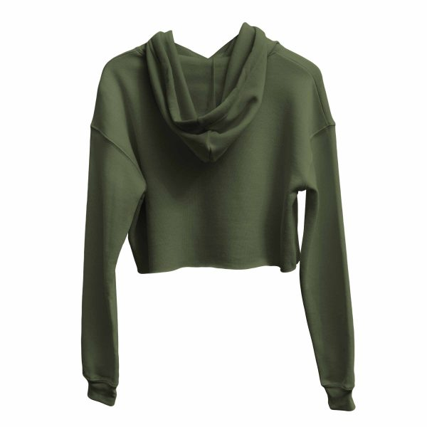 KIKICUTT crop hood army green