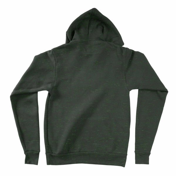 KIKICUTT fleece hood heather forest