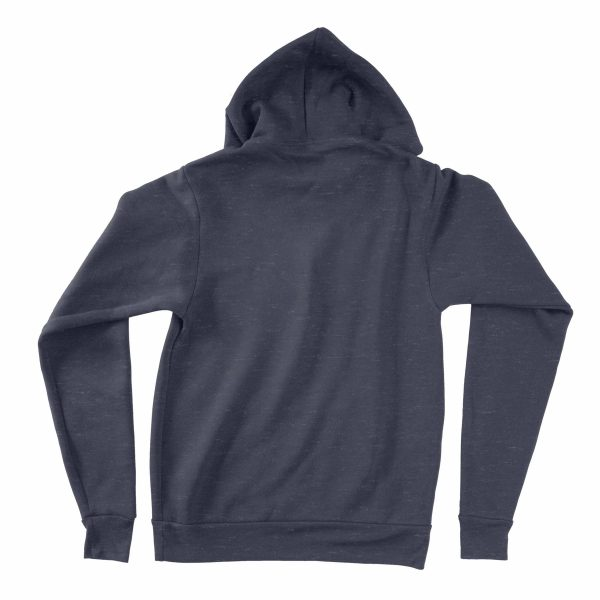 KIKICUTT fleece hood heather navy