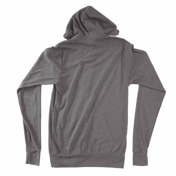 KIKICUTT zip hood grey