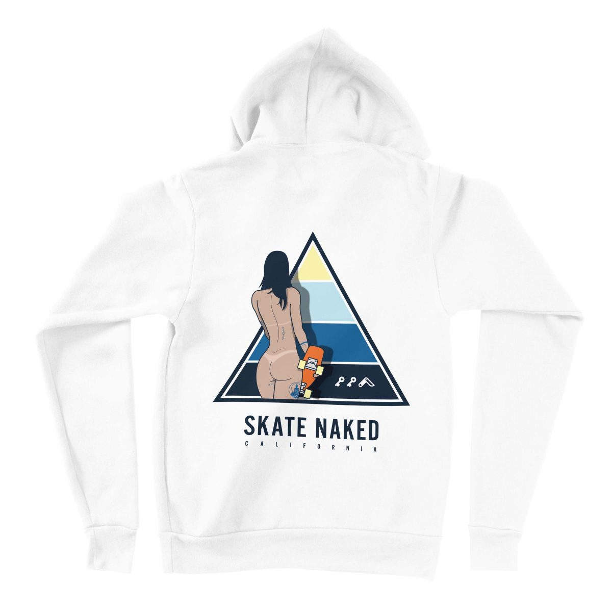 naked skatergirl hoodies by kikicutt sweatshirt store
