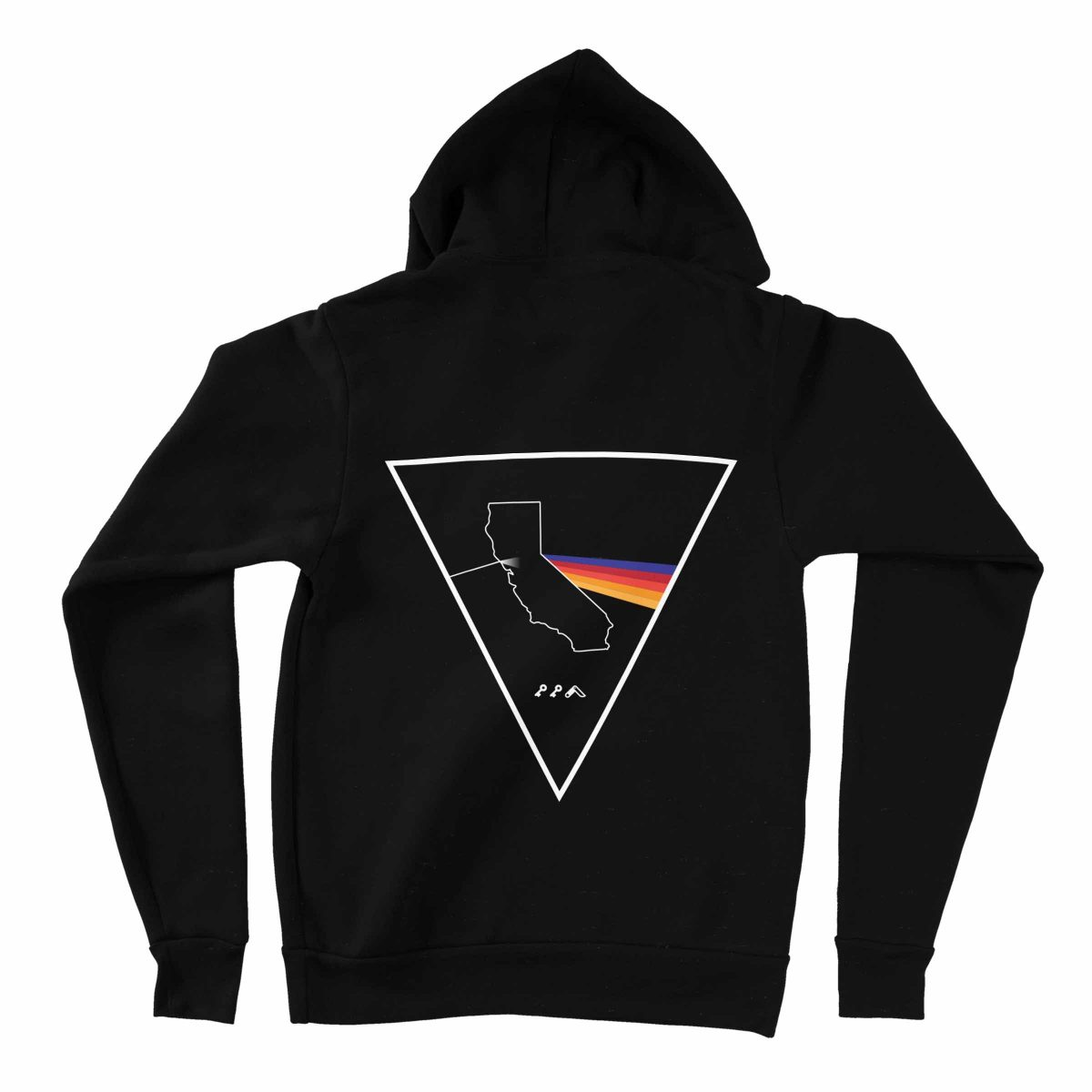 california colorful prism hoodies by kikicutt sweatshirt store