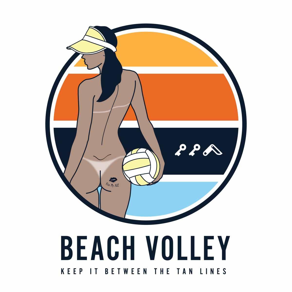 hermosa beach volleyball design by kikicutt