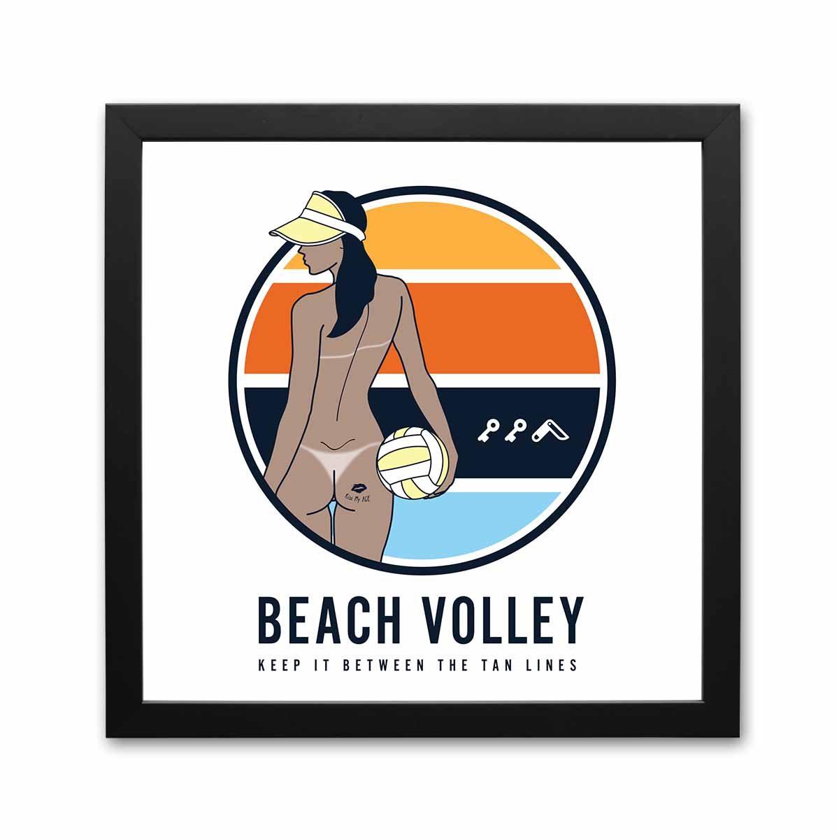 hermosa beach volleyball prints by kikicutt