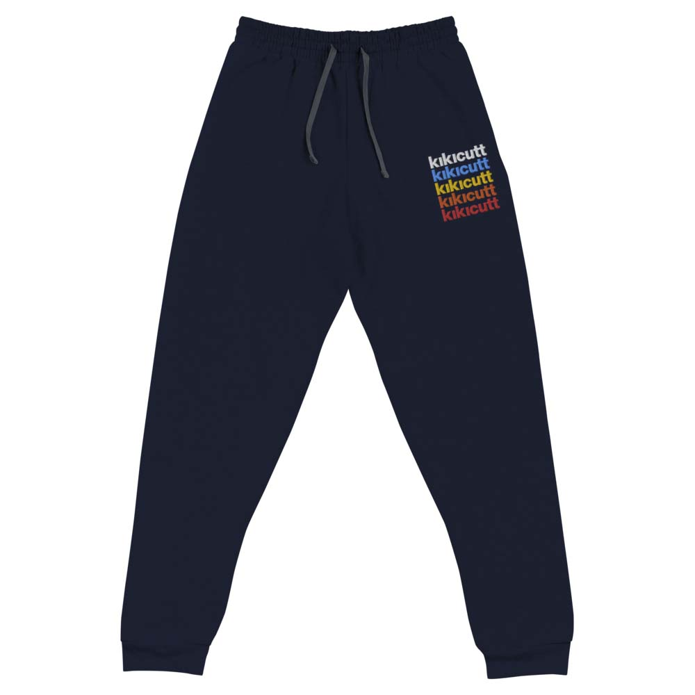 KIKICUTT RAINBOW fleece embroidered joggers by kikicutt