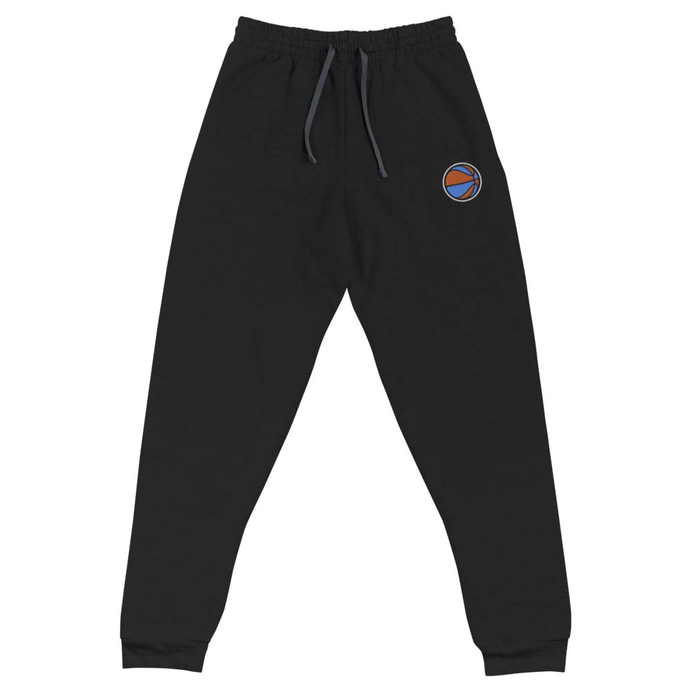 blue and orange BASKETBALL embroidered joggers by kikicutt sweatpants store