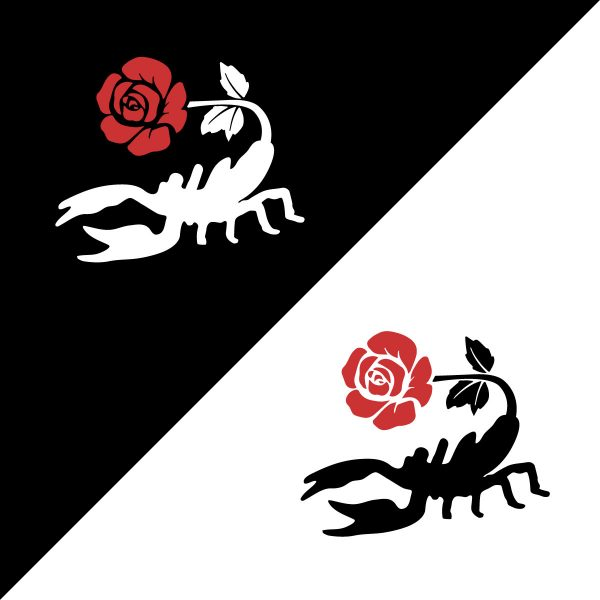 scorpion rose (embroidered)
