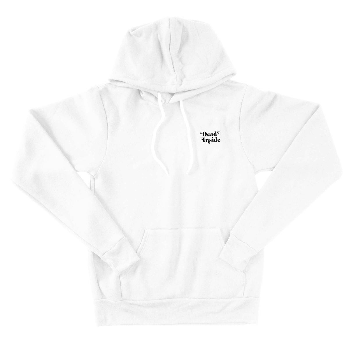 DEAD AF INSIDE triblend hoodies by kikicutt sweatshirt store