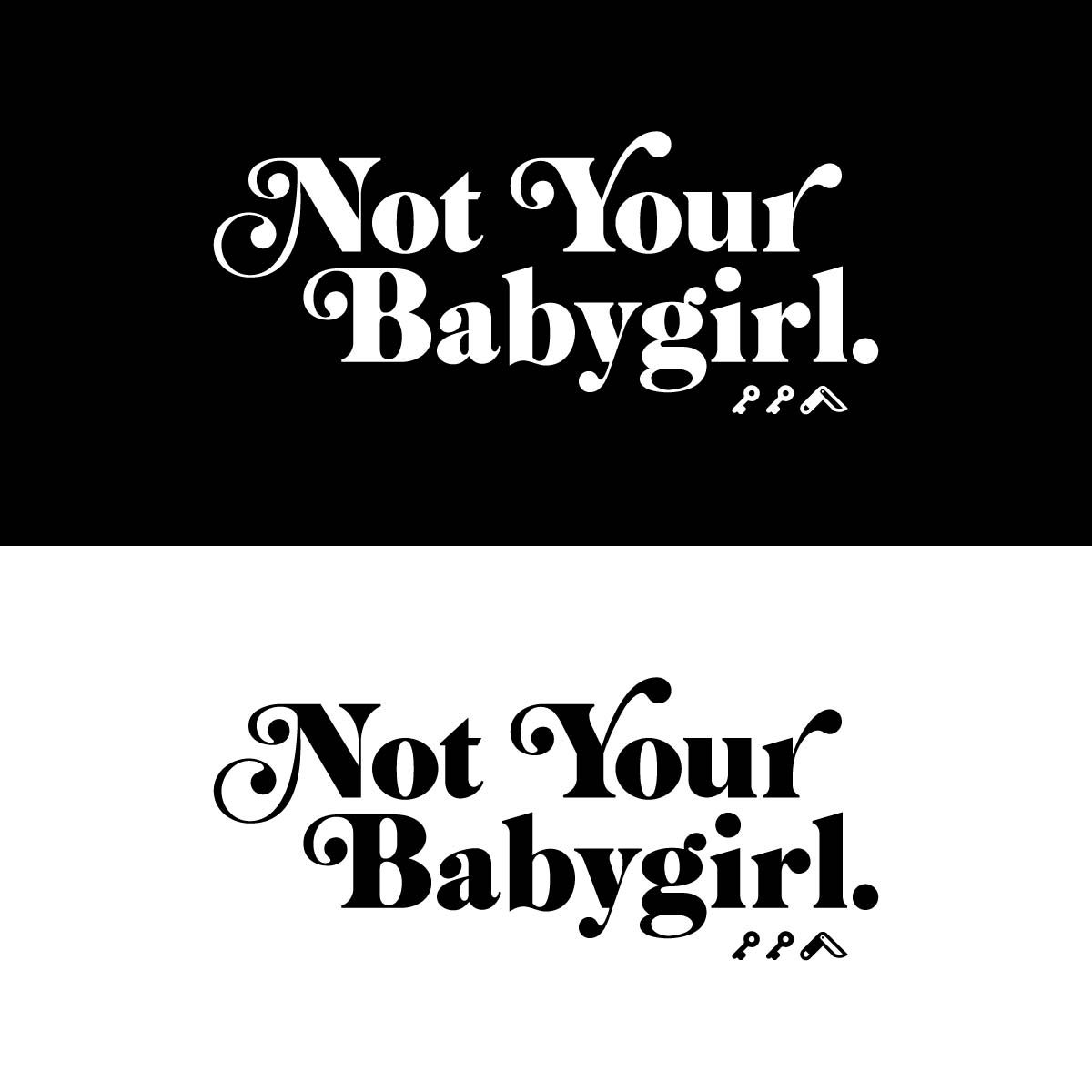 NOT YOUR BABYGIRL triblend t-shirts by kikicutt