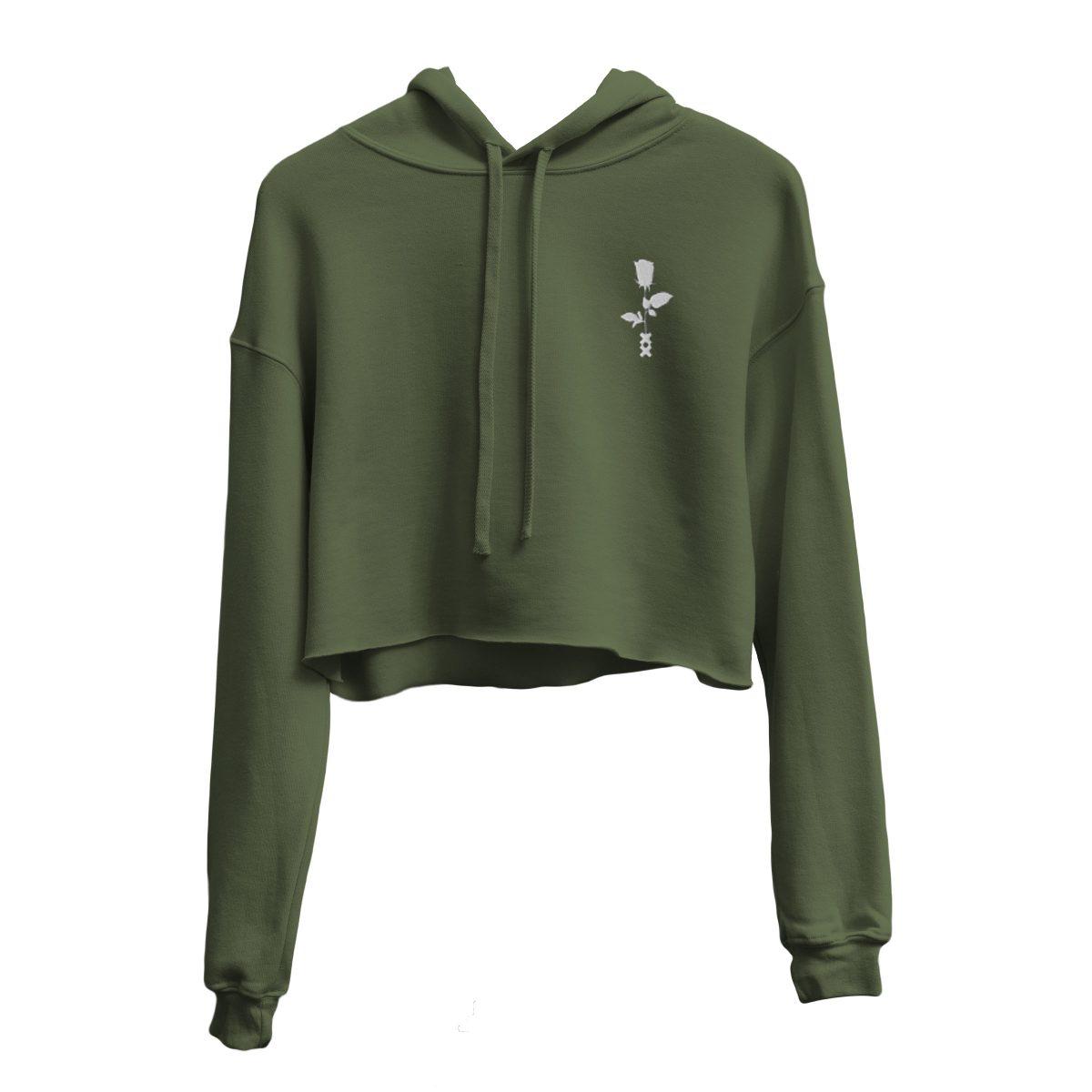 ROSE XX crop hoodie by kikicutt
