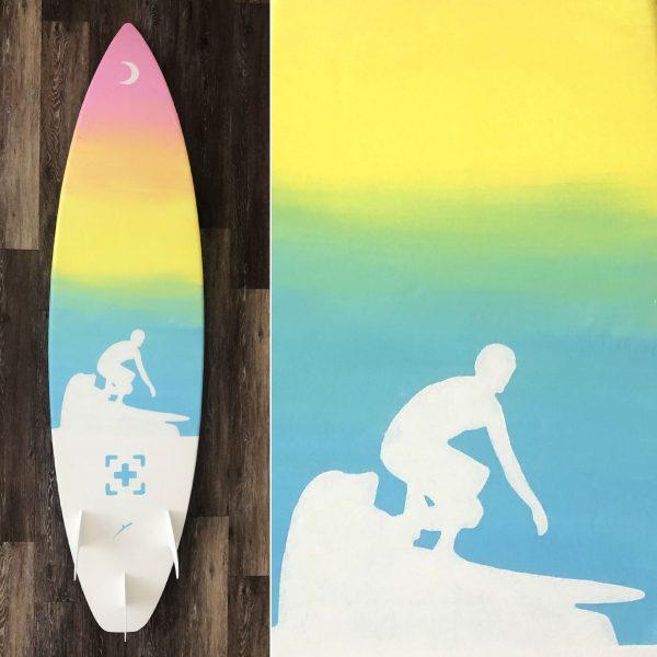 the waterman (surfboard art)