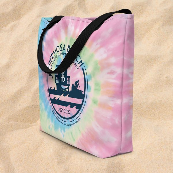 hermosa beach parking pass beach bag
